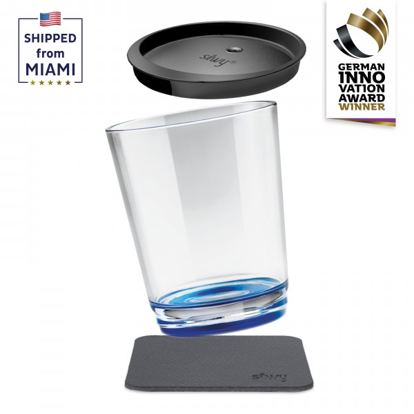 Magnetic drinking cup triple, Lui Blue