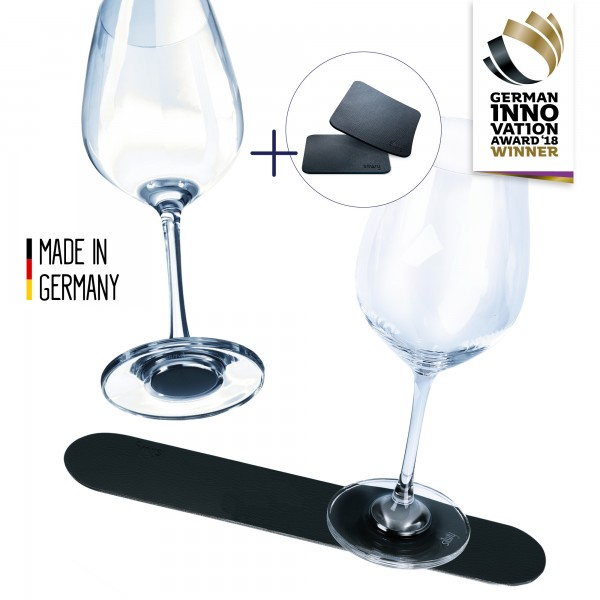 Magnetic Crystal Glass WINE advantage set BLACK