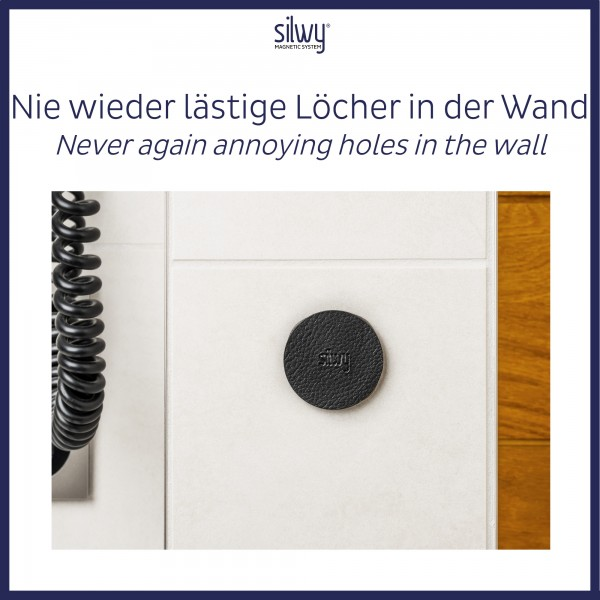 Metal-Nano-Gel-Pads 5 cm BLACK, set of 4