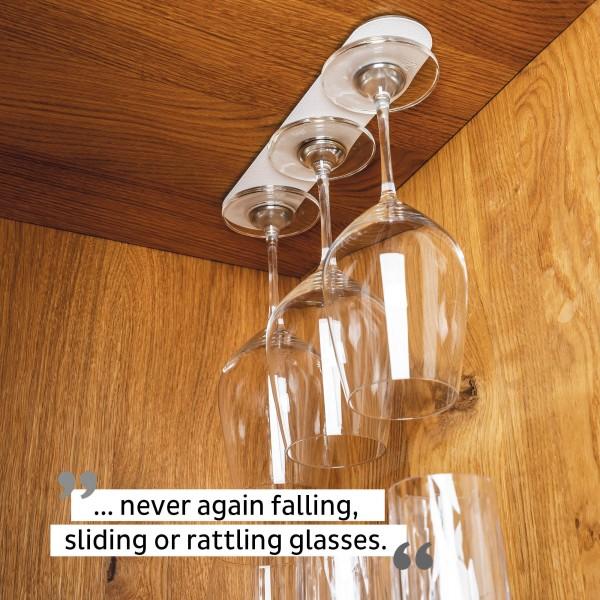 Metal strip 25 cm WHITE incl. Set of 2 Crystal Glasses Wine