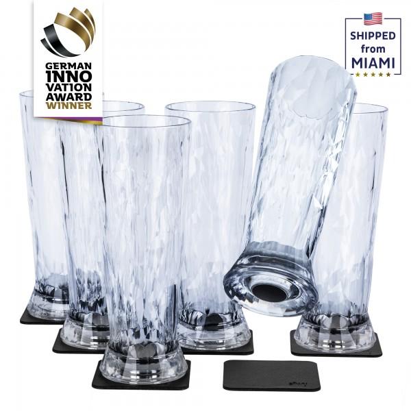 Magnetic Plastic Glasses BEER (Set of 6), High-Tech
