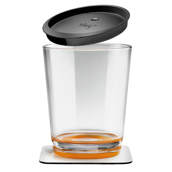 Magnetic drinking cup triple, Hup Orange