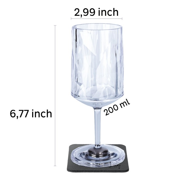 Magnetic Plastic Glasses WINE (Set of 6), Hightech