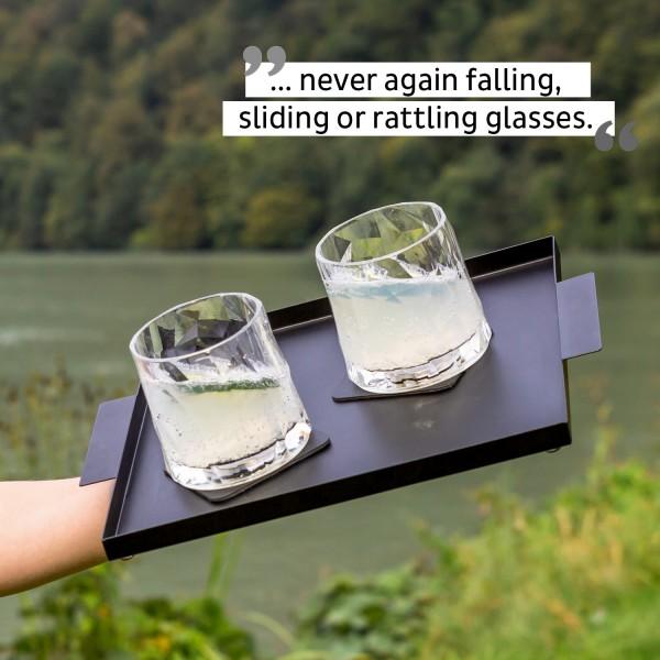 Magnetic Plastic Glasses Tumbler (Set of 2), Hightech