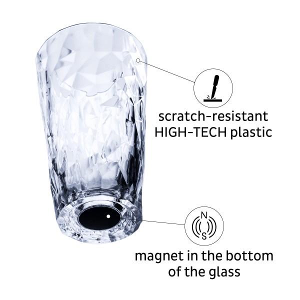 Magnetic Plastic Glasses LONGDRINK (Set of 6), Hightech