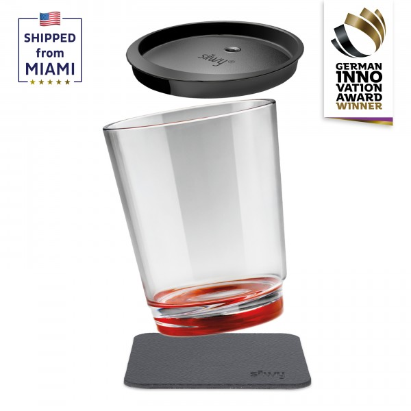 Magnetic drinking cup triple, Ready Red