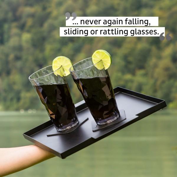 Magnetic Plastic Glasses LONGDRINK (Set of 2), Hightech - grey