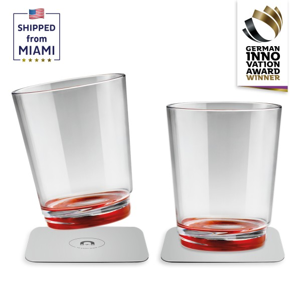 Magnetic drinking cup (set of 2), Ready Red