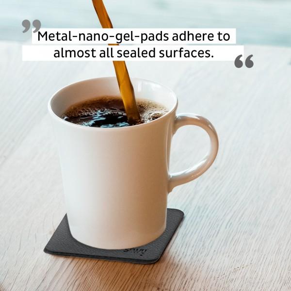 Porcelain Magnet Handle Cups incl. Metal-Nano-Gel-Pads BLACK