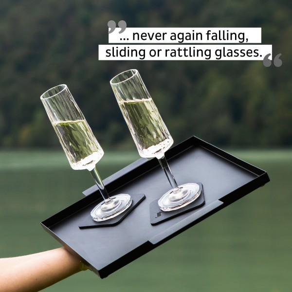 Magnetic Plastic Glasses CHAMPAGNE (Set of 2), Hightech