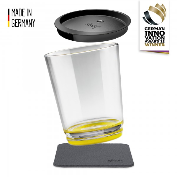 Magnetic Drinking Cup Triple, Oh Yellow