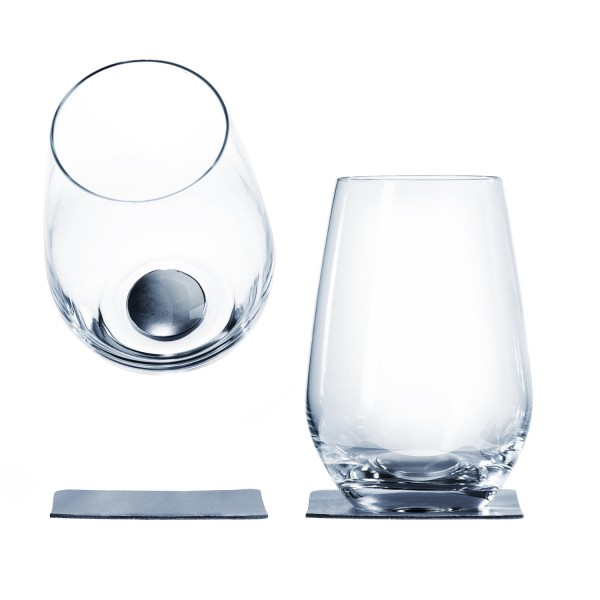 Magnetic crystal glass longdrink