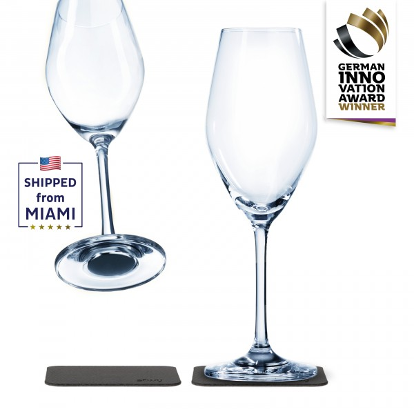 Magnetic crystal glass champagne