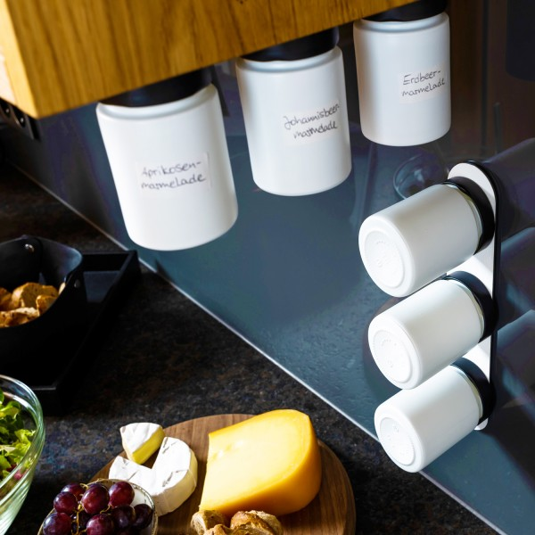 Glass for delicacies incl. metal strip - ALL WHITE
