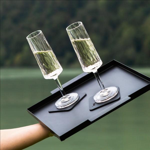 Magnetic Plastic Glasses CHAMPAGNE (Set of 6), High-Tech