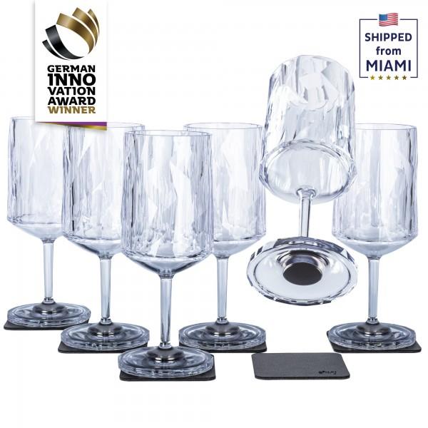 Magnetic Plastic Glasses WINE (Set of 6), High-Tech