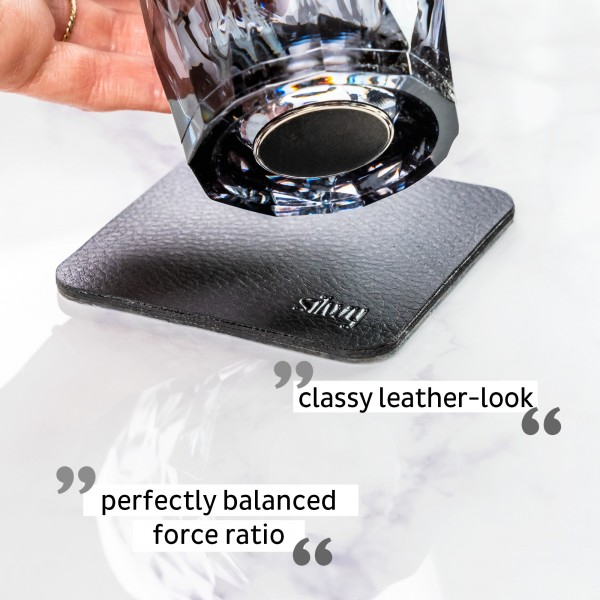 Magnetic Plastic Glasses Tumbler (Set of 2), Hightech - grey