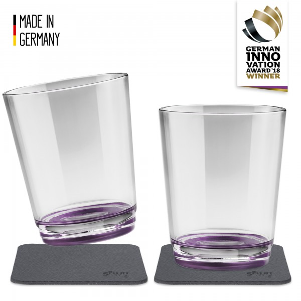 Magnetic drinking cup (set of 2), Very Berry