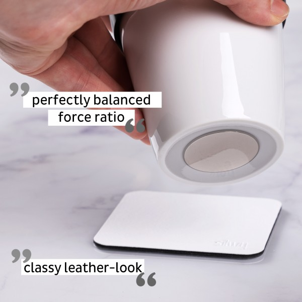Porcelain TO-GO CUP incl. coaster WHITE