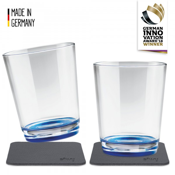 Magnetic Drinking Cup (set of 2), Lui Blue