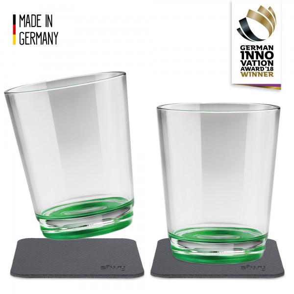 Magnetic Drinking Cup (set of 2), Sour Green