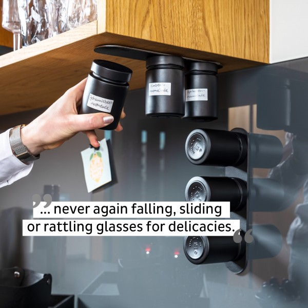 Glass for delicacies incl. metal strip - ALL BLACK