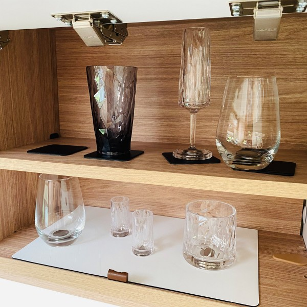 Magnetic Plastic Glasses LONGDRINK (Set of 2), High-Tech - grey