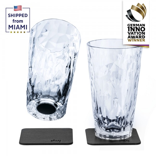 Magnetic Plastic Glasses LONGDRINK (Set of 2), High-Tech