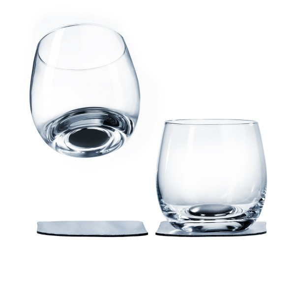 Magnetic crystal glass whisky