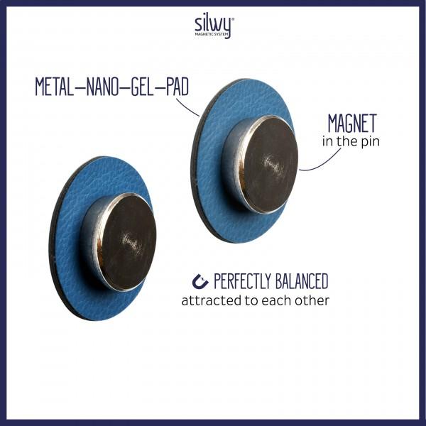 "Magnetic Pins ""SMART"" incl. Metal-Nano-Gel-Pads BLUE"