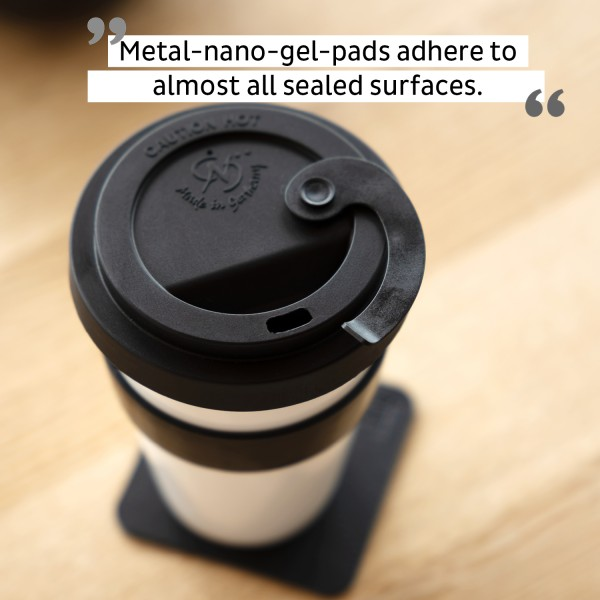 Porcelain TO-GO CUP incl. coaster BLACK