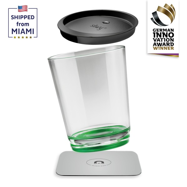Magnetic drinking cup triple, Sour Green