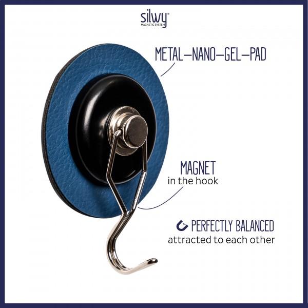"Magnetic Hook ""THE ONE"" incl. Metal-Nano-Gel-Pad BLUE"