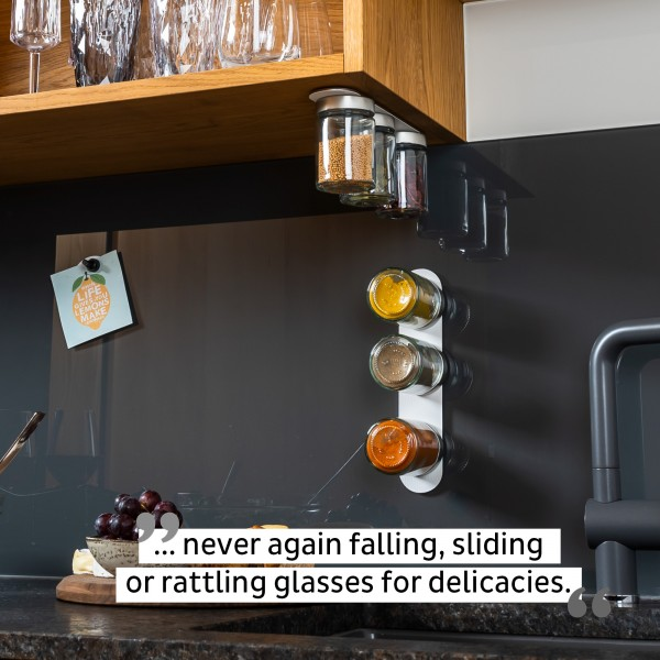 Glasses for delicacies incl. metal strip - WHITE & CLASSY