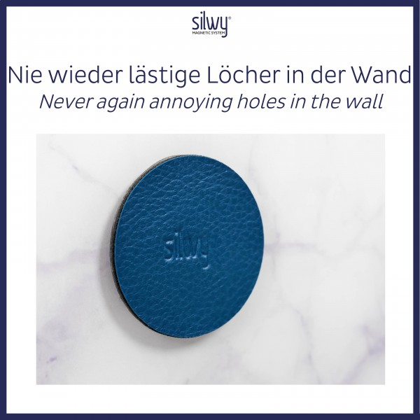Metal-Nano-Gel-Pads 5 cm BLUE, set of 4