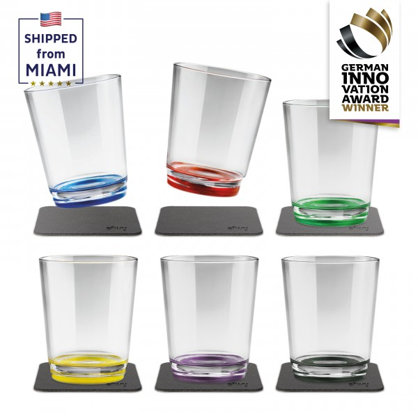 Magnetic drinking cup (set of 6), Multicolour