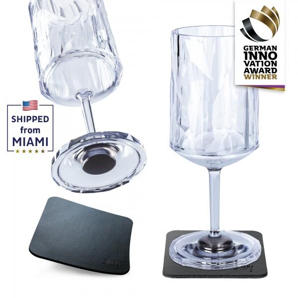 Magnetic Plastic Glasses WINE (Set of 2), High-Tech