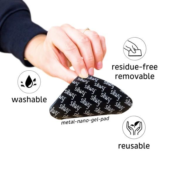 Metal-Nano-Gel-Pad BLACK for Magnetic Glasses