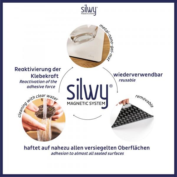 Metal mat for magnetic glasses